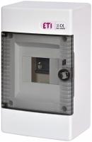 Щит наружн. распределительный ECT 4 PT (4мод.прозр.дверь) арт. 001100140
