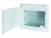 Щит пласт. внутр. исп. ECM 2x18PO MEDIA (8xRJ, розетка 230V, белая дверца) арт. 001101311
