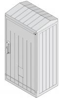 Шкаф полиэстеровый KVR-D 80-66-25 SR (В848хШ662хГ250, двухдверный, ассиметр., правый, наклон. крыша) арт. 001602147