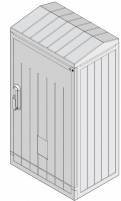 Шкаф полиэстеровый KVR-D 80-66-32 S (В854хШ662хГ320, двухдверный, ассиметр., правый, наклон. крыша) арт. 001602286