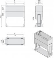 Цоколь KVR-32 P 106 (В907хШ1059хГ320) арт. 001602329