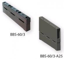 3-полюсный держатель для шин 5-10мм. и 20мм. или 30мм. ширины с клеммой 25мм2   BBS-60/3-A25 арт.1696003