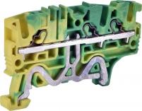 Клемма пружинная заземляющая ESH-EFCE.2/1+2 (2,5 мм2, желто-зел., 1вх.+2вых., push-in) арт. 003903274