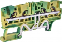 Клемма пружинная заземляющая ESH-EFCE.2/2+2 (2,5 мм2, желто-зел., 2вх.+2вых., push-in) арт. 003903275