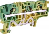 Клемма пружинная заземляющая ESH-EFCE.4/1+2 (4 мм2, желто-зел., 1вх.+2вых., push-in) арт. 003903277