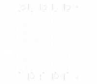 Маркировочная пластина ES-TAP2715W под шильдик (27х15мм, 24 шт, ПВХ, белая)  арт. 003903301
