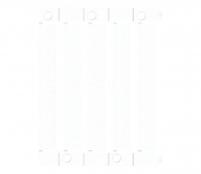 Маркировочная самоклеющаяся пластина ES-TAP159AW (15х9мм, 77 шт, ПВХ, белая)  арт. 003903308