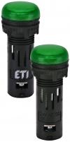 Лампа сигнал. LED матовая ECLI-16-024C-G 24V AC/DC (?16мм, зелёная) арт. 004771601