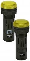 Лампа сигнал. LED матовая ECLI-16-024C-Y 24V AC/DC (?16мм, желтая) арт. 004771602