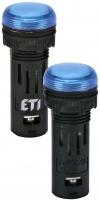 Лампа сигнал. LED матовая ECLI-16-024C-B 24V AC/DC (?16мм, синяя) арт. 004771603