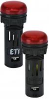 Лампа сигнал. LED матовая ECLI-16-240A-R 240V AC (?16мм, красная) арт. 004771606