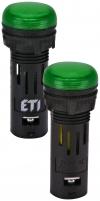 Лампа сигнал. LED матовая ECLI-16-240A-G 240V AC (?16мм, зелёная) арт. 004771607