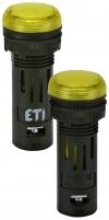 Лампа сигнал. LED матовая ECLI-16-240A-Y 240V AC (?16мм, желтая) арт. 004771608