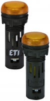 Лампа сигнал. LED матовая ECLI-16-240A-A 240V AC (?16мм, оранжевая) арт. 004771609