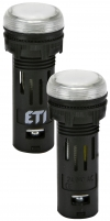 Лампа сигнал. LED матовая ECLI-16-240A-W 240V AC (?16мм, белая) арт. 004771611