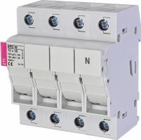 Разъединитель для цилиндрических предохранителей 10x38    EFD 10 3p+N  Арт. 2540005