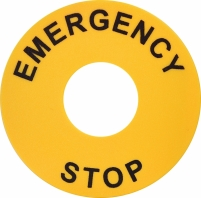 """Кольцо EALP с надписью """"Emergency/Stop"""" (d=22/60мм) Арт. 4771544"""