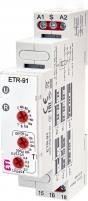 Многофункциональное реле времени ETR-91 12-240V AC/DC (1x16A_AC1)
