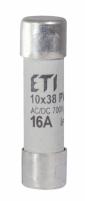 Предохранитель цилиндрический CH 10х38 gR  16 A  30kA DC IEC 60269-4 арт.002625023