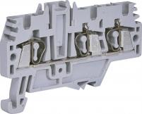 Клемма пружинная (1 вход, 2 выхода; серая) ESP-HMM.2/1+2