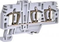 Клемма пружинная (1 вход, 2 выхода; серая) ESP-HMM.4/1+2