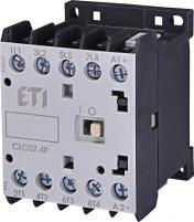 Контактор миниатюрный  CEC 07.4P 230V АС (7A; 3kW; AC3) 4р (4 н.о.)