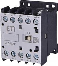 Контактор миниатюрный  CEC 09.4P 230V АС (9A; 4kW; AC3) 4р (4 н.о.)