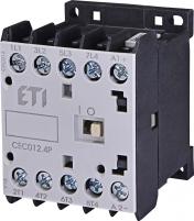 Контактор миниатюрный  CEC 12.4P 230V АС (12A; 5,5kW; AC3) 4р (4 н.о.)