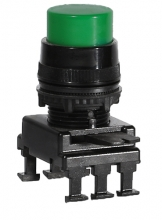 Кнопка-модуль выступающая c фиксацией НF45C2 (зеленый) арт.004770016