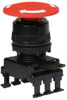 Кнопка-грибок НН55С1 отключение поворотом (40 мм, красный) арт.004770023