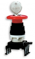 Кнопка-грибок HQ55C1 под ключ (40 мм, красный) арт.004770026