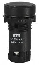 Кнопка утопленная с Н.О контактом TN13A2 (черный) арт.004770057
