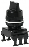 Переключатель поворотн. 2-х поз. HK65C3 с фикс. 0-1, 30° (черный) арт.004770089