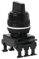 Переключатель поворотн. 2-х поз. HR65C3 с фикс. 0-1, 60° (черный) арт.004770090