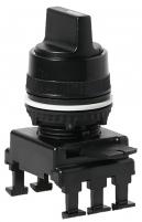 Переключатель поворотн. 2-х поз. HT65C3 с фикс.  0-1, 90° (черный) арт.004770091