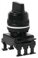 Переключатель поворотн. 2-х поз. HI65C3 без фикс. 0-1, 30° (черный) арт.004770092