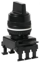 Переключатель поворотн. 3-х поз. HL65C3 с фикс. 1-0-2, 30° (черный) арт.004770093