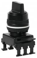 Переключатель поворотн. 3-х поз. HJ65C3 без фикс. 1-0-2, 30° (черный) арт.004770094