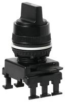 Переключатель поворотн. 3-х поз. HM65C3 без фикс. слева 1-0-2, 30° (черн.) арт.004770095