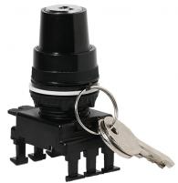 Переключатель поворотн. 2-х поз. с ключом HК85C3, с фикс. 0-1, 30°, (черн.) арт.004770105