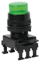 Кнопка-модуль выступающая с фикс. и с подсв. HF46C2 (зеленый) арт.004770146