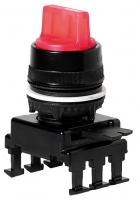 Переключатель поворотн. 2-х поз. HT66C1 с подсв. с фикс 0-1, 90° (красный) арт.004770155
