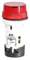 Лампа сигнальная матовая TL01U1 24V AC/DC (красная) арт.004770227