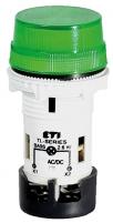 Лампа сигнальная матовая TL02U1 24V AC/DC (зеленая) арт.004770228