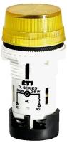 Лампа сигнальная матовая TL04X1 240V AC (желтая) арт.004770247
