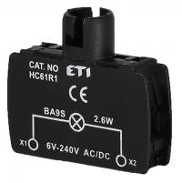 Держатель ламп BA9S мод. HC61R1 2,6 Вт прямое подключение арт.004770314