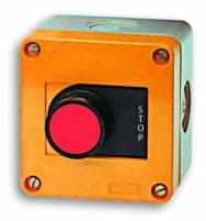 """Кнопочный пост 1-модульный - """"STOP"""" с подсв. JAC50000 (красный) арт.004770363"""