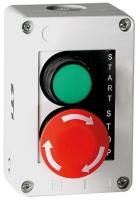 Кнопочн.пост 2-мод. JBB2F100 2 кнопки гриб.типа, откл. поворотом арт.004770367