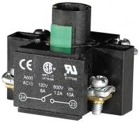 Держатель ламп HC22Y1 6-240 В, AC/DC, +1НО, для корп. арт.004770396