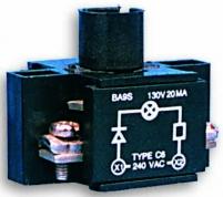 Держатель ламп HC22O1 6-240 В, AC, с резист., диодом, 1НО, для корп. арт.004770405